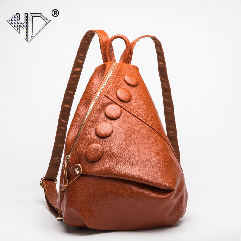 HD Women Backpack High Quality PU Leather Mochila Vintage School Bags For Teenagers Girls Top-handle Backpacks Herald Fashion  pu leather vintage backpack 2016 preppy style women backpack school bags for college teenagers girls women mochila feminina