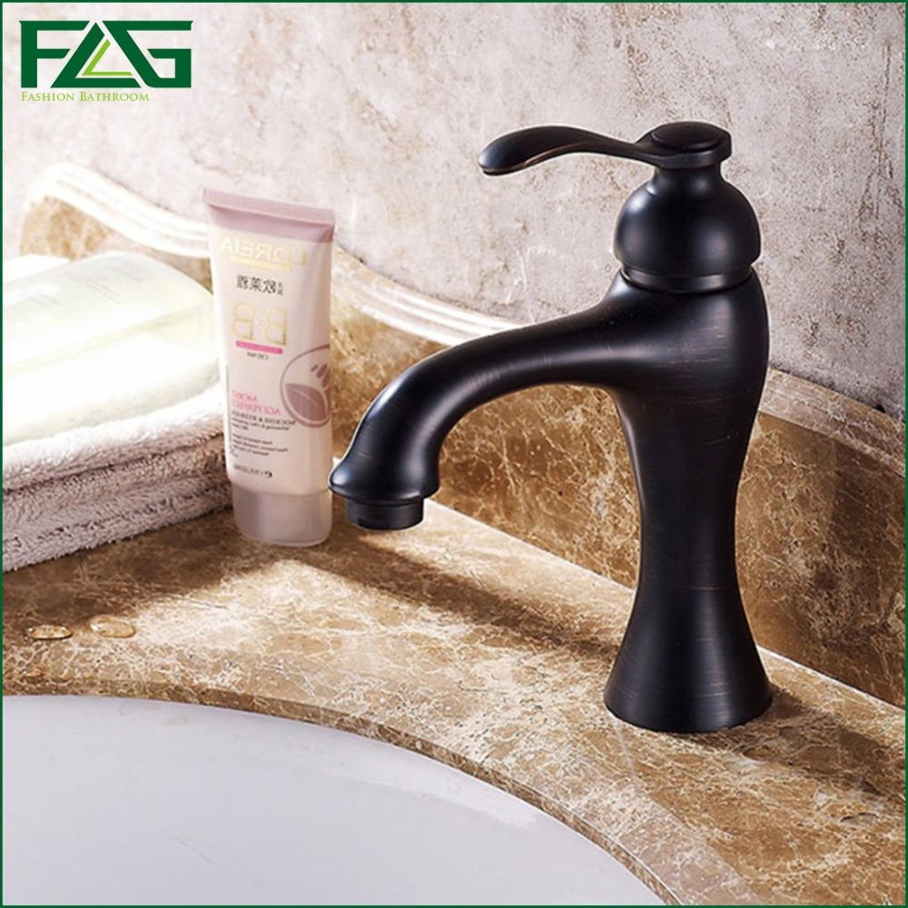 ФОТО FLG Nordic Style Basin Faucet Oil Rubbed Bronze Cold & Hot Robinetterie Salle De Bain Lavabo Bathroom Tap Robinet Mixer Tap M023