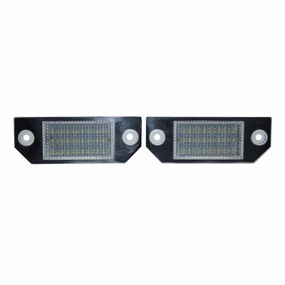 2Pcs Error Free 24 White LED License Number Plate Lamp Rear Light Car Bulbs Lights fit for Ford Focus MK2 Ford C-MAX MK1