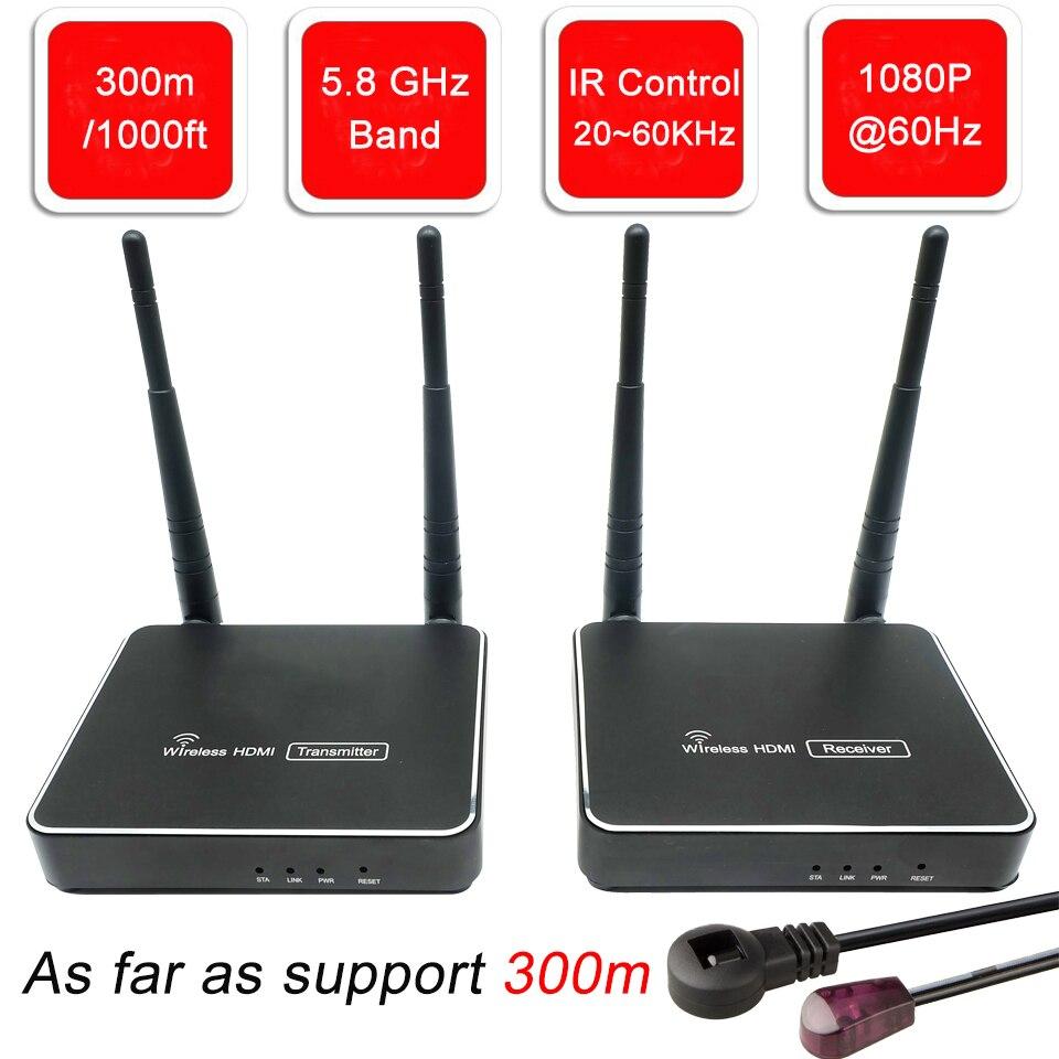 5 GHz HDMI émetteur sans fil double antenne WIFI sans fil HDMI extension de Transmission 300 m HD sans fil HDMI récepteur émetteur vidéo