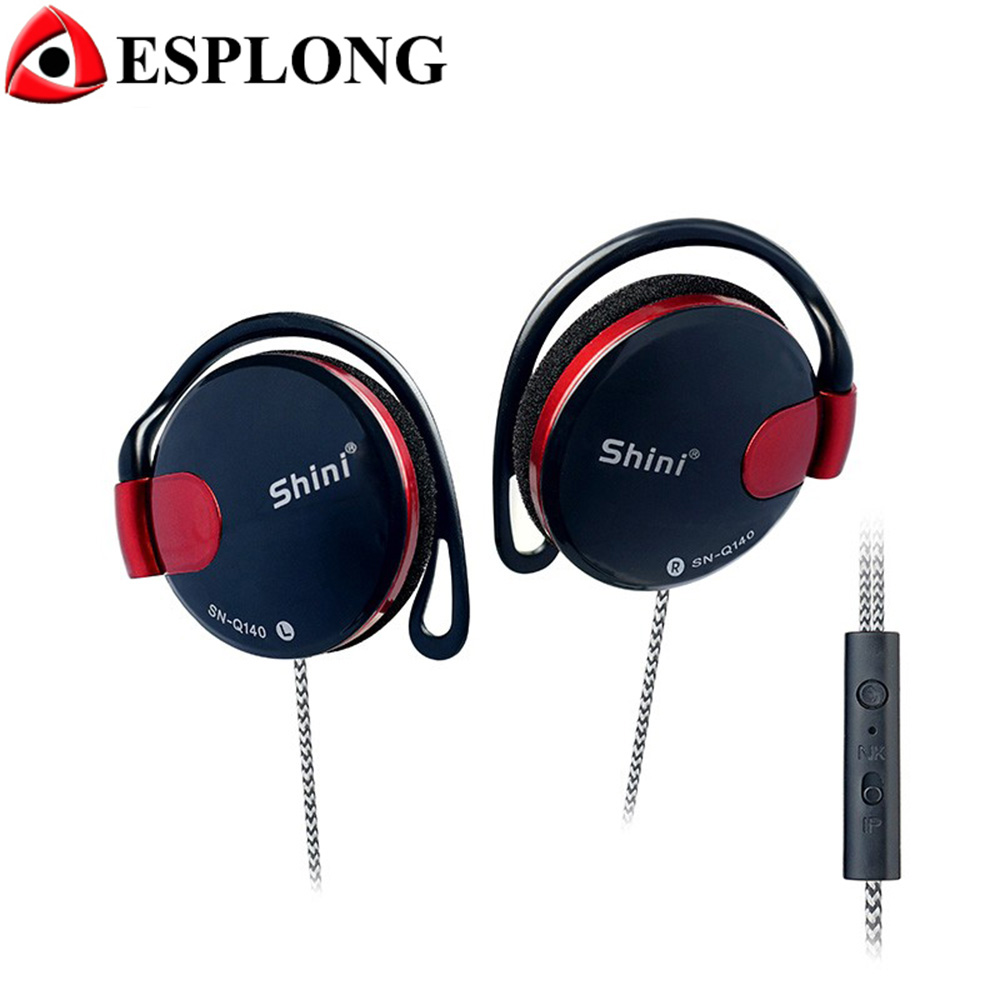 SN-Q140 EarHook Earphone Stereo HIFI Headphones 3.5mm Sport Music Headset With Microphone For MP3 Xiaomi Huawei iPhone Meizu qkz c6 sport earphone running earphones waterproof mobile headset with microphone stereo mp3 earhook w1 for mp3 smart phones