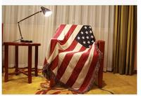 130*180cm 100% Cotton Thicken Blanket Stars and stripes Sofa Towel Bed Covers chair blanket cover home decor