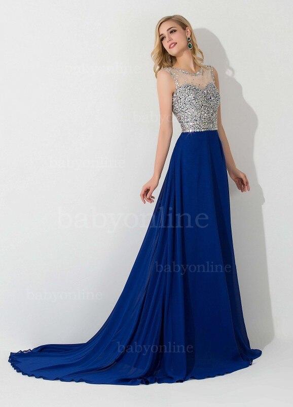 blue evening dresses - Dress Yp