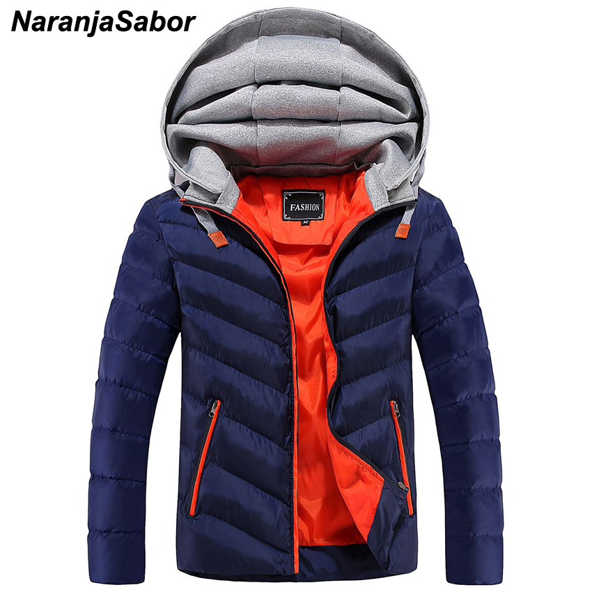 NaranjaSabor 2020 Winter Men's Thick Coats Casual Male Patchwork Parkas Men Fashion Warm Hooded Jackets Mens Brand Clothing 4XL