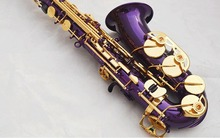 Best Selling France Henri Selmer Paris Alto Saxophone 802 E Flat Electrophoresis Gold Key purple Saxe Top Musical Instrument