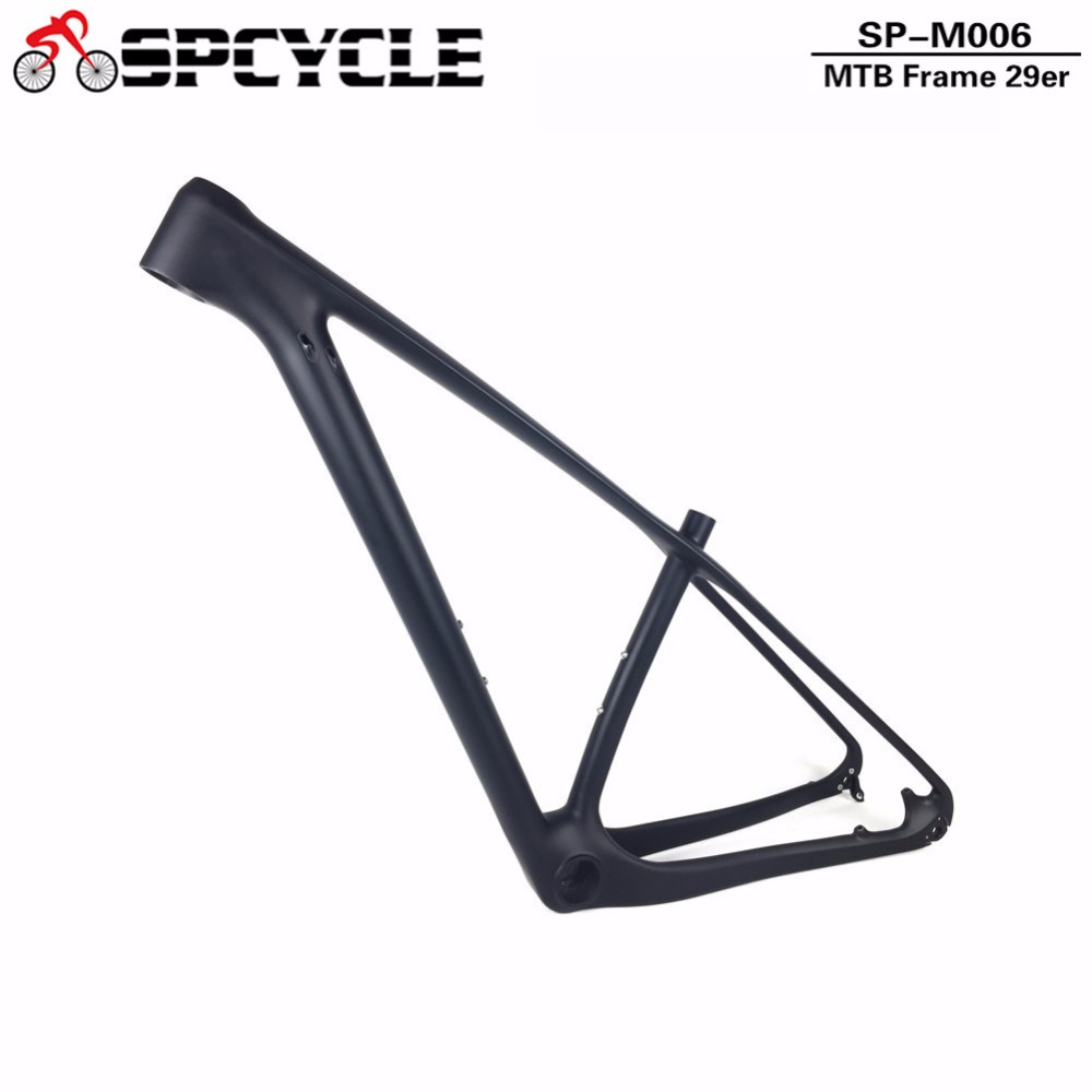 Spcycle 2019 T800 Full Carbon 29er MTB Bicycle Frame ,29er Model Carbon Mountain Bike Frame Thru Axle 142x12mm or QR 135x9mm 2017 new cheap carbon frame t800 3k full carbon mtb frame 29er for thru axle carbon mountain bikes frame 29 free shipping