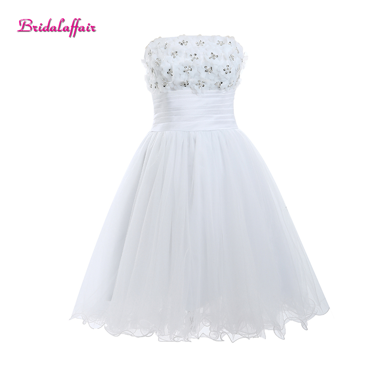 White Tulle Appliques Sweetheart Short   Dresses   2018 Cheap   prom     dress   Zipper Back Mini Party Gowns women   dresses   evening   dress