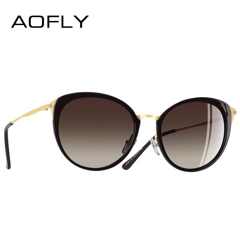 fa9910bac1 US $11.77 41% OFF|AOFLY BRAND DESIGN Polarized Sunglasses Women Fashion  Ladies Cat Eye Sun Glasses Eyewear Gafas De Sol Goggles A131-in Women's ...