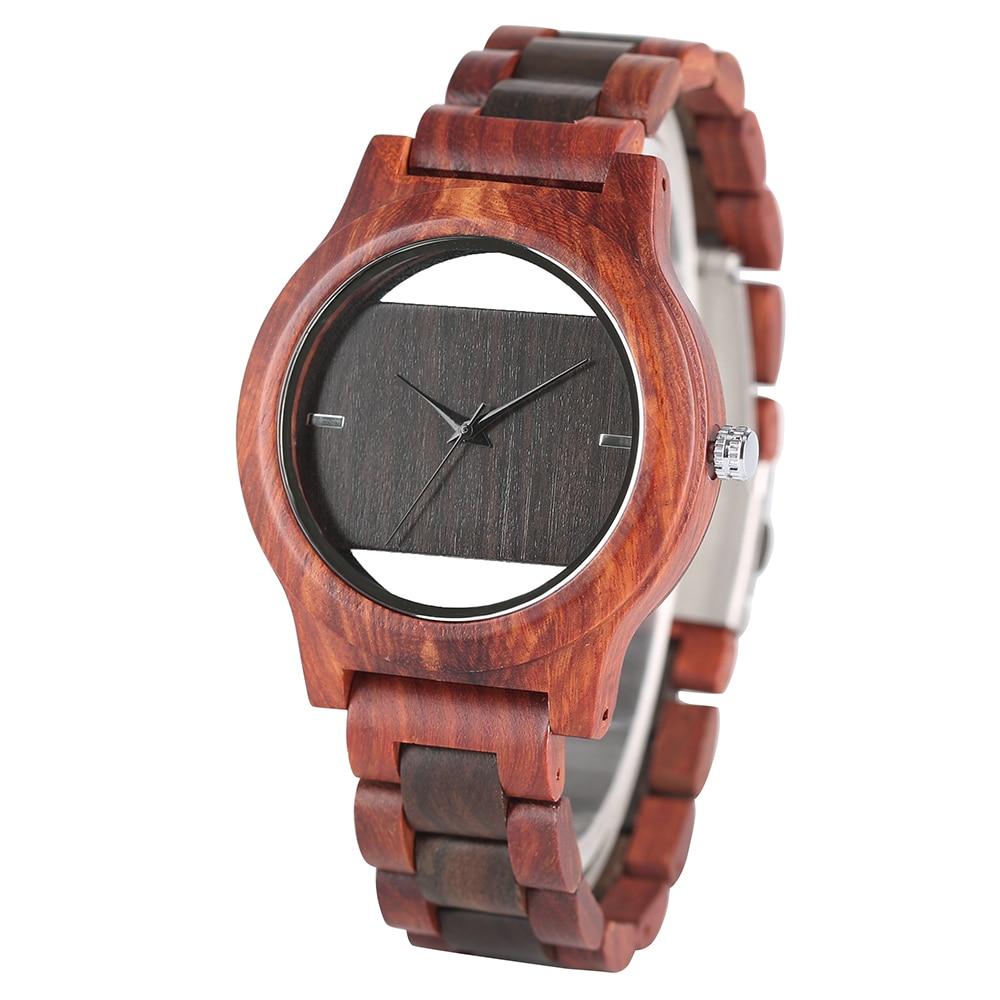 Herenhorloges volledig aard Bamboe Houten polshorloge Mode Unieke - Herenhorloges