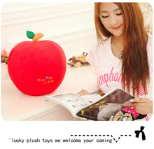 middle cute new creative lovely apple toy plush red apple doll gift about 30cm