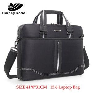 Image 4 - Business Oxford Men Briefcase 15.6 inch Laptop Handbags Mens Office Bags Multifunction Messenger BagComputer Work Bag
