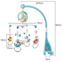 0 18 Months Cartoon Rotating Crib Bed Bell Timing Hanging Projection Baby Rattle Mobiles Educational Stroller Comfort Toy Play