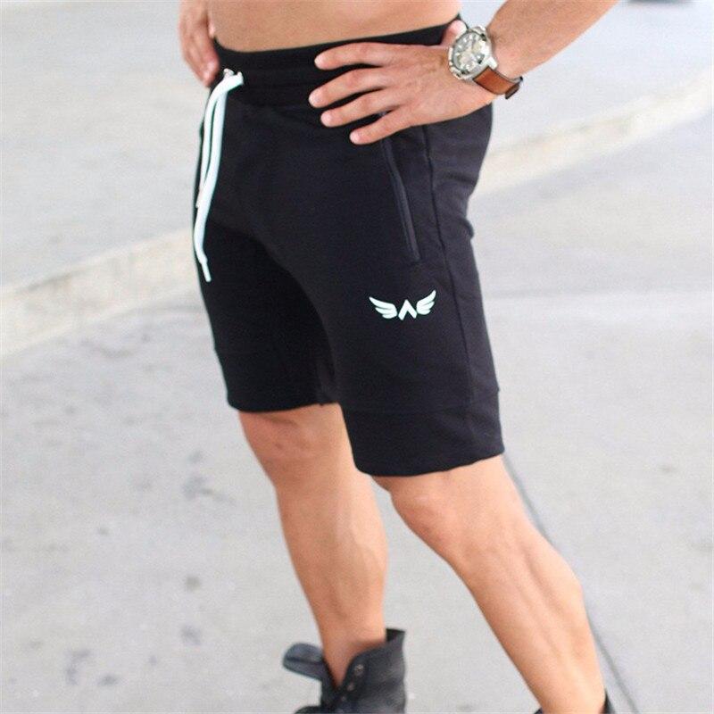 Men Shorts Fitness Bottom Short Pant-7