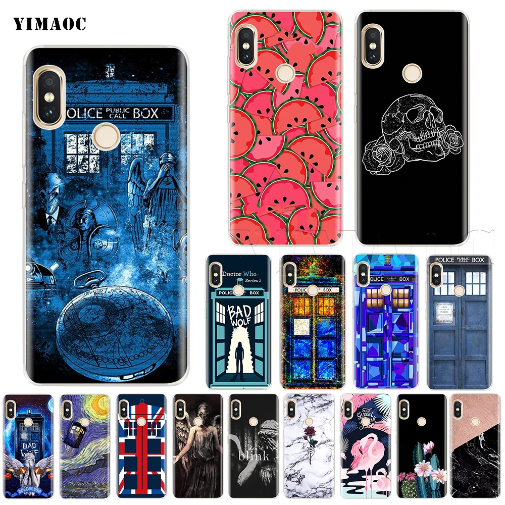 Kmuysl Tardis Box Doctor Who Dw Tpu Transparent Soft Case Cover For Xiaomi Redmi Note 4x 4 4a 5 Mi A1 Plus Clear And Distinctive Fitted Cases