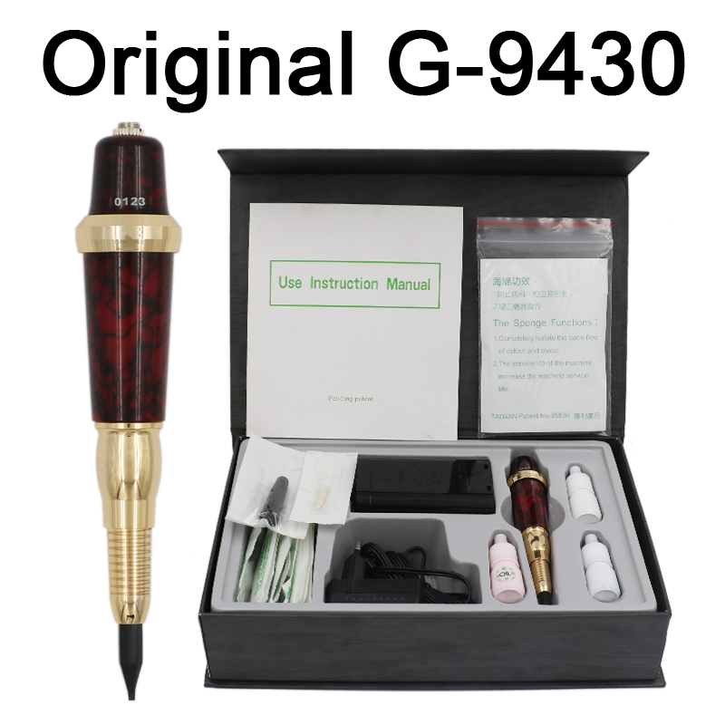 Профессиональный Тайвань гигантские солнца G-9430 брови татуировки ручка для перманентного макияжа бровей навсегда составляют комплект с че...