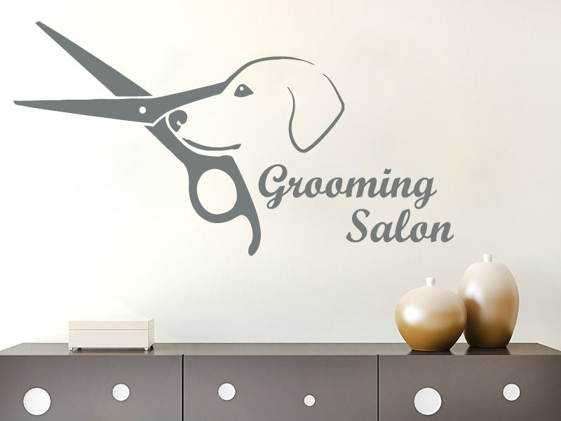 qt031 grooming salon wall decals vinyl sticker dog pet shop bedroom decor wall sticker mural for - Shop Bedroom Decor