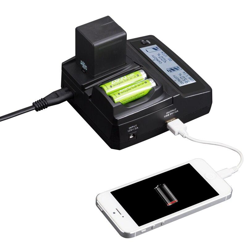 LVSUN téléphone universel + AA + caméra voiture/AC NB-10L NB10L NB 10L chargeur adaptateur pour Sony Canon Powershot G1X G3X G15 G16 SX40HS SX50H