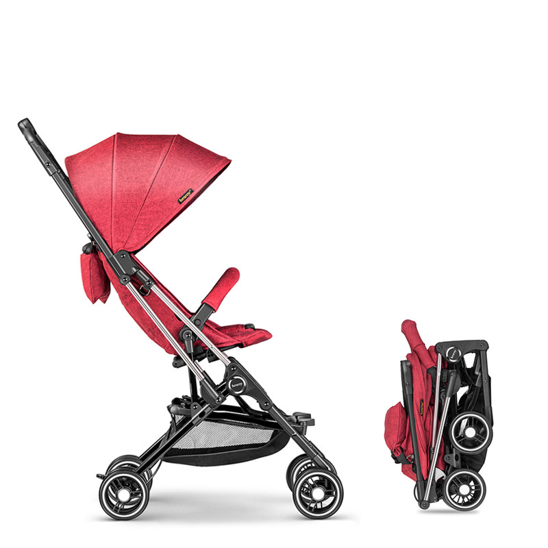 Baby carriage lightweight Portable traveling baby stroller can sit can lie high landscape umbrella baby trolley pouch four wheels travel baby stroller high landscape portable can sit lie lightweight summer folding baby carriage pram 0 3 y