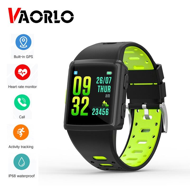 VAORLO nouveau M3 GPS hommes montre intelligente IP68 étanche fréquence cardiaque activité Tracker Bracelet 300 Mah batterie SmartWatch 1.3 pouces Multi