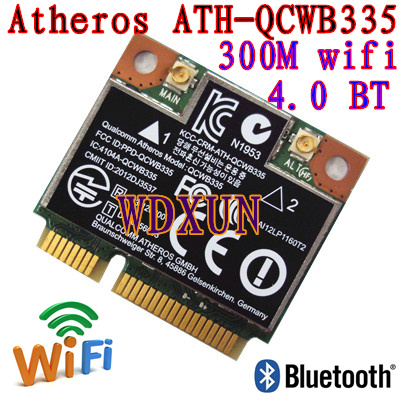 Replacement For Laptop 690019-001 689457-001 733268-001  Atheros AR9565 QCWB335 Mini PCIe WLAN WIFI Wireless Bluetooth Card