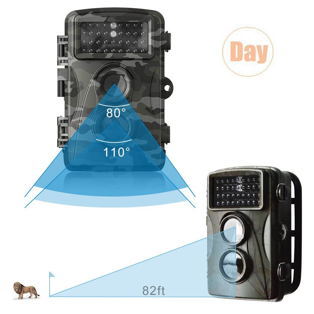 IP56 Waterproof Scouting Hunting Trail Camera H3 Trap Wildlife IR Infrared LED Video Recorder Night Vision Cam free shipping wildlife hunting camera infrared video trail 12mp camera