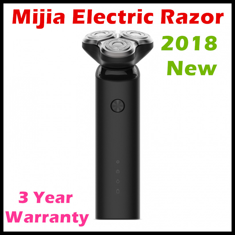 (In Stock) 2018 New Xiaomi Mijia Electric Shaver 3 Floating Head Shaving IPX7 Fully Water-Proof Mijia Electric Razor Travel Lock new in stock skb30 02a1
