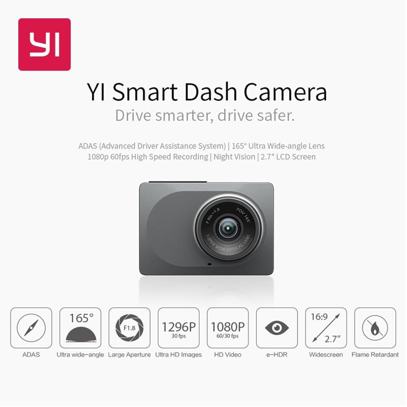 YI Smart Dash Camera International Version WiFi Car DVR Night Vision HD 1080P 2 7 165