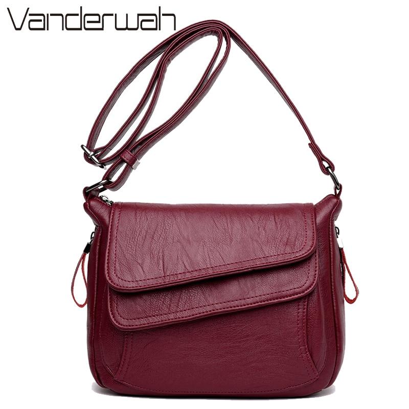 8 Colors Leather Luxury Handbags Women Bags Designer Women Messenger Bags Summer Bag Woman Bags For Women 2019 White Sac A Main messenger bag