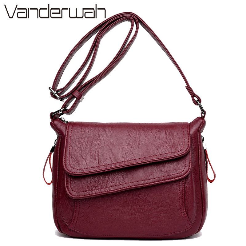 Winter Style Soft Leather Luxury Handbags Women Bags Designer Woman Messenger Shoulder Crossbody Bags For Women 2019 Sac A Main
