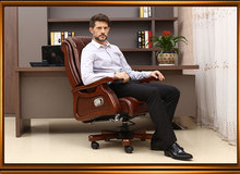 Boss chair. Leather can lie big chair massage. Solid wood chairs. Computer chair