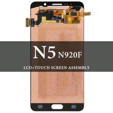 цена на For Note 5 N9200 LCD Display With Touch Screen Digitizer 5.7 Inch For Note 5 N9200 Screen Super AMOLED LCD