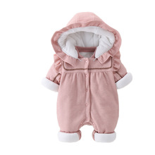 New Velvet Thickening  Baby Girls Jumpsuit  Baby Girl Romper  Baby Girl  Warm Winter Clothes baby girl clothes child girl winter clothes suit 0 1 2 3 year old plus velvet thickening warm three pieces costume for boys