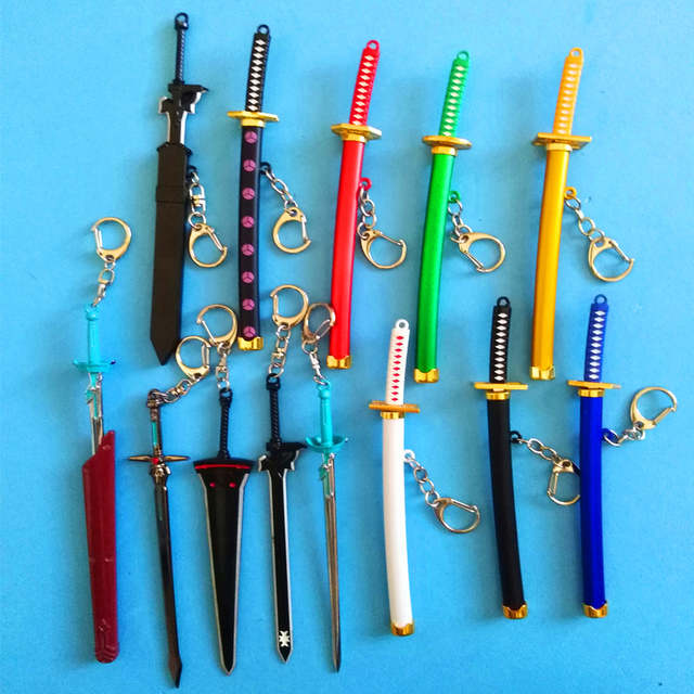 US $0 89 |1Pcs15cm Exquisite Mini Weapons Model Sheathed Knife Clasp  Japanese Samurai Sword Keychain Keychain Anime Props Pendant keychain-in  Key