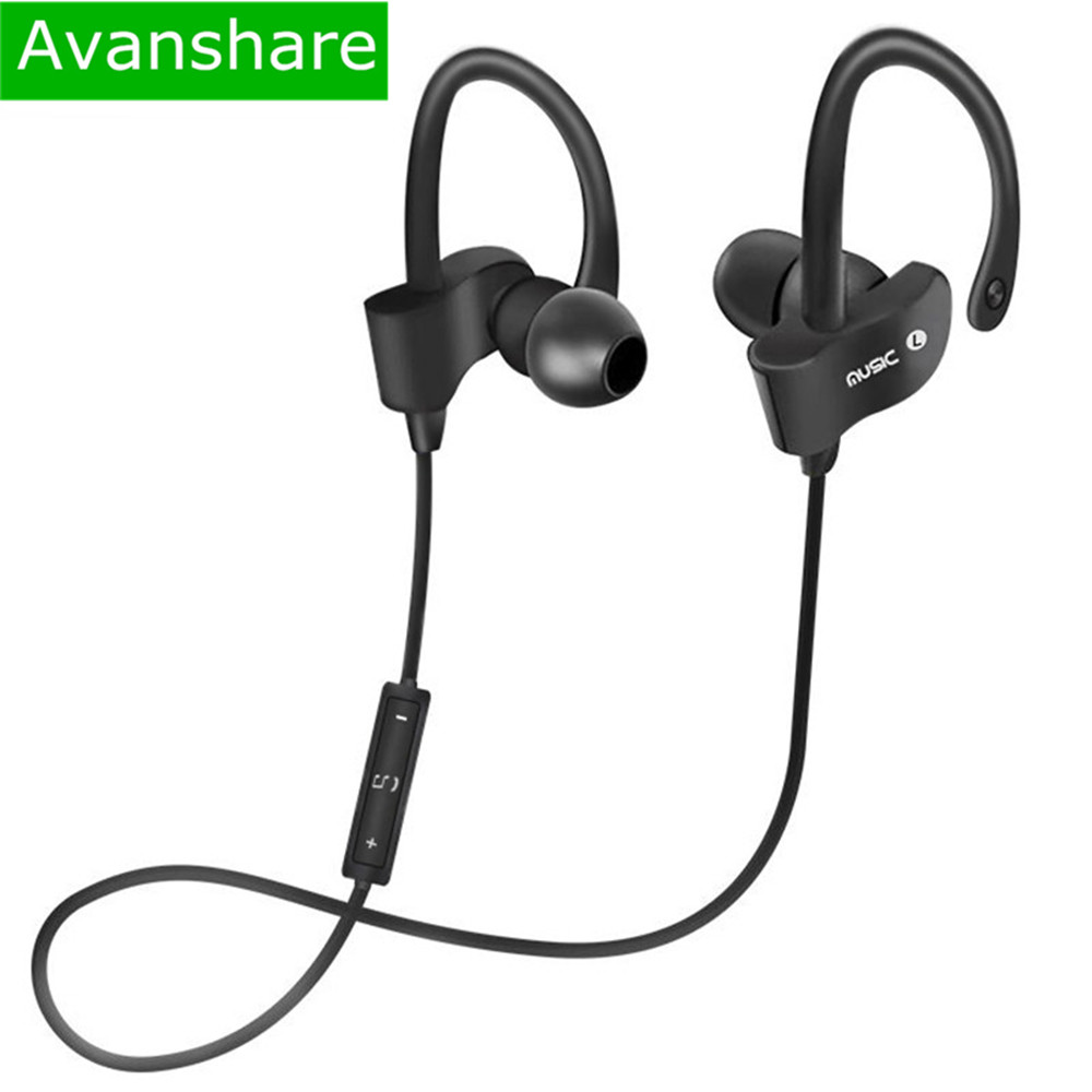 Avanshare Sh2 Sports In-Ear Wireless Bluetooth Earphone Stereo Earbuds Headset Bass Earphones with Mic for iPhone7 Samsung Phone