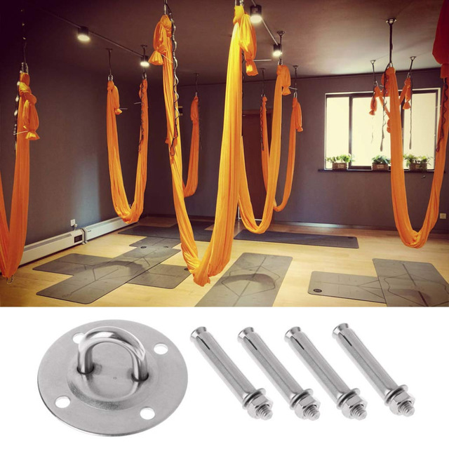 (SHIP NOW ) Yoga Accessories Hammock Wall Mount Anchor Hooks Heavy Duty Hanging Kit for Aerial Yoga/Ceiling/Gym/Swing 3