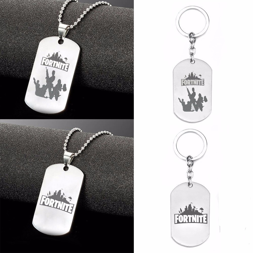 SAIZ 4 stylesStainless Steel Pendant Hot&Classic FPS Game Fortnite Logo Necklace Laser Printing Personalized Jewelry Do not fade