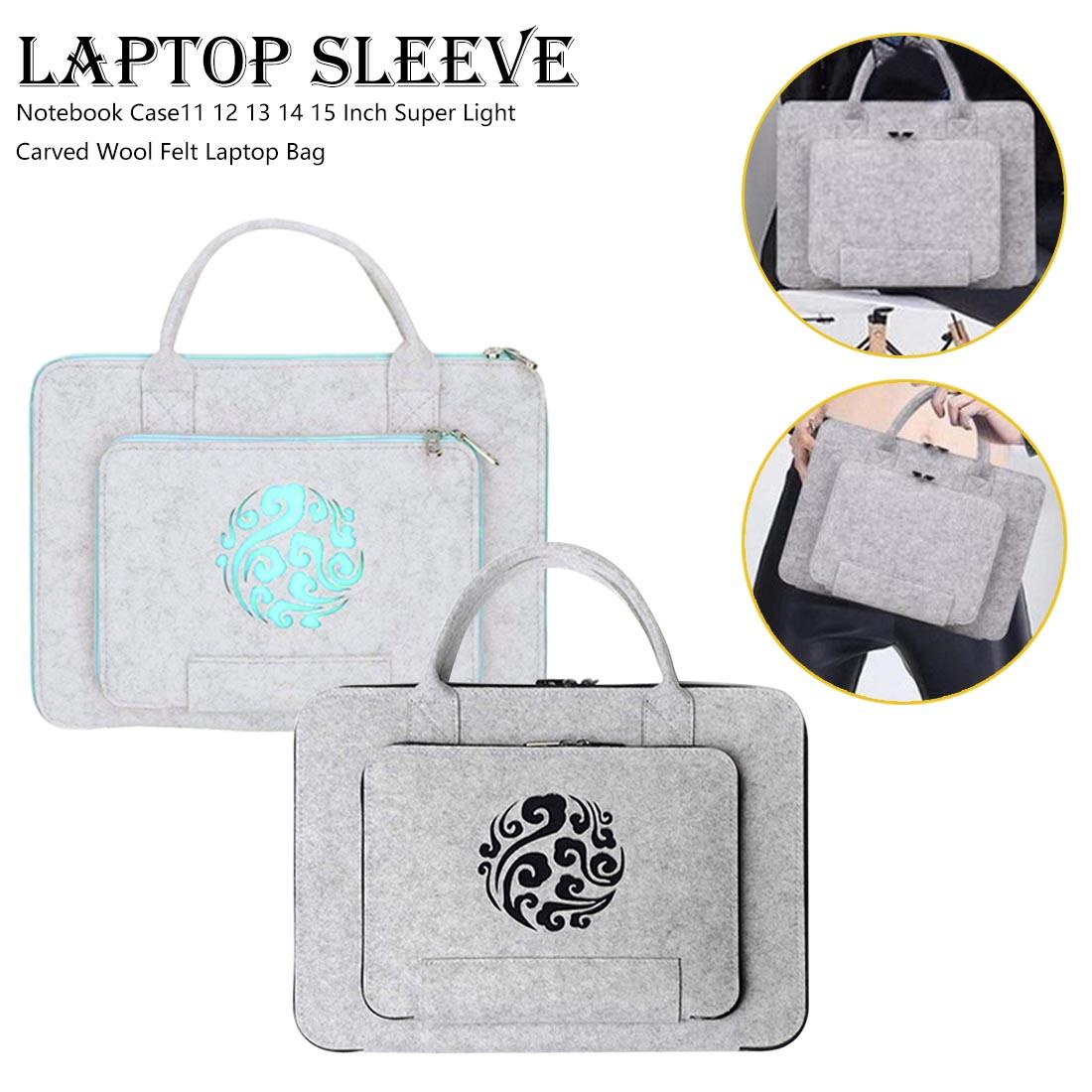 Super Light Wool Felt Laptop Bag 11 12 13 14 15Inch  For Macbook Lenovo Dell Hp Asus Computer Bag Notebook Case