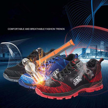 Steel Toe Safety Shoes for Men Unisex Outdoor Work Anti-smashing Anti-piercing Man Boots Casual Sneakers