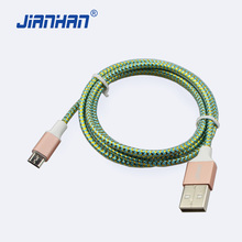 1M Micro USB Cable Braided Nylon USB Data Sync Charger Cable USB Cable for Samsung Xiaomi HTC Android Phone