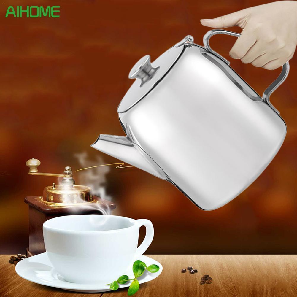 Stainless Steel Coffee Pot Cold Water Kettle Juice Pot Afternoon Tea Coffee Pot Hotel Restaurant DrinkwareStainless Steel Coffee Pot Cold Water Kettle Juice Pot Afternoon Tea Coffee Pot Hotel Restaurant Drinkware