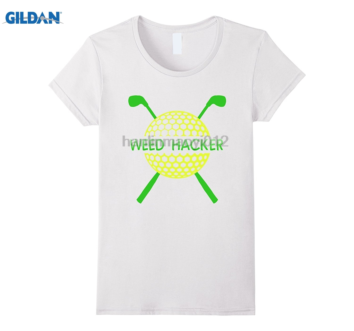 GILDAN Funny Weed Hacker Golfing T-Shirt 2018 Latest Hot Cotton T-Shirt Dress female T-shirt
