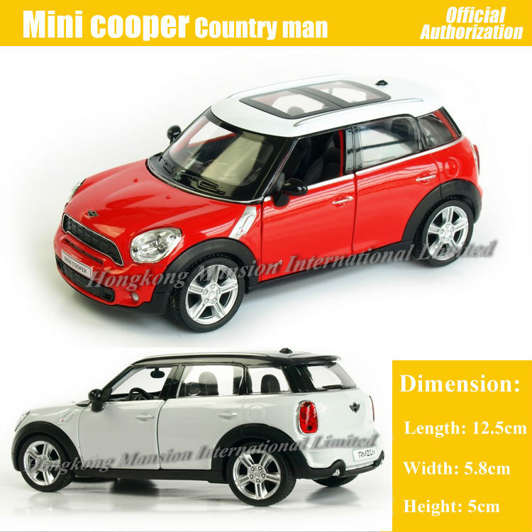 1 36 Scale Cast Alloy Metal Car Model For Mini Cooper S Countryman Collection Pull Back Toys Red White Black Blue