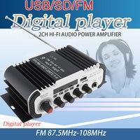 Vehemo 2 Channel Bluetooth Audio Amplifier Bluetooth Power Amplifier FM Music for Car Interior Wireless Bluetooth Amplifier