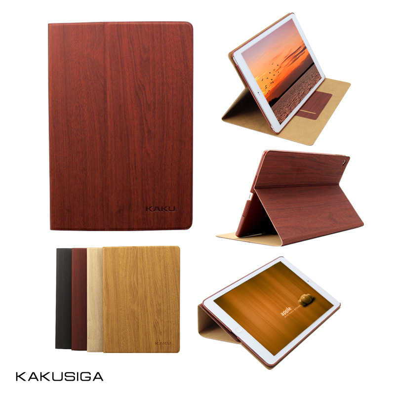 KAKUSIGA For Apple iPad Mini4 Tablet Case Smart Sleep Cover Wooden Grain PU Leather Case Flip Cover Stand Holder Luxury 2017 btd stand tablet case cover for apple ipad mini
