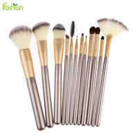 Professional 12pcs Makeup Brushes Set Powder Foundation Eyeshadow Eyeliner Lip Cosmetic Blush Makeup Brushes Maquiagem With