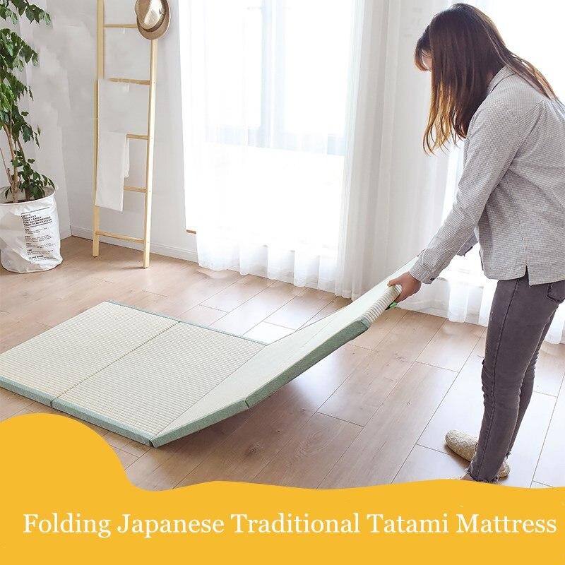 Möbel Kreativ Hohe Qualität Natürliche Connut Palm Tatami Matratze Traditionellen Faltbare Boden Stroh Matte Matte Für Yoga Schlaf Tatami-matte Bodenbelag
