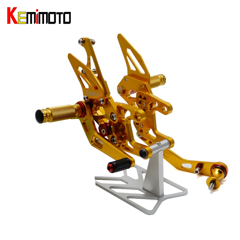 все цены на KEMiMOTO CBR1000RR CNC Adjustable Rearsets Foot Rest For Honda CBR 1000 RR 2008 2009 2010 2011 2012 2013 2014 CBR 1000RR онлайн