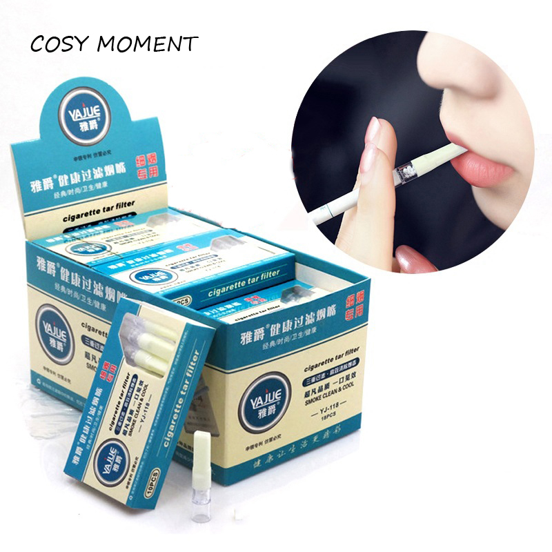 COSY MOMENT 10pcs/lot Disposable Reduce Tar And Nicotine Women Smoke Slim Filter Mouthpiece Cigarette Holder For 5.2mm YJ337