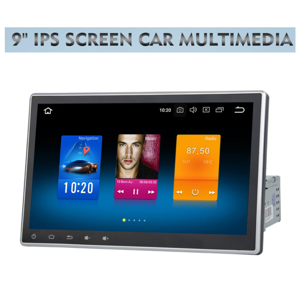10.2 Universal 1 Din Android 8.0 Car multmedia GPS Adjustable IPS Touch Screen Car Radio Navigation Headunit for Toyota Nissan image