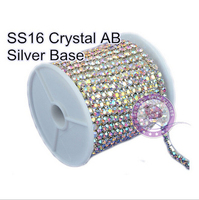 Elegant In Style Ss16 Density Crystal AB 10yards Density Rhinestone Cup Chain For For Luxury Dress